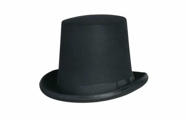 dc85b0c9c Stovepipe Tall Top Hat in Black #NHT29-01