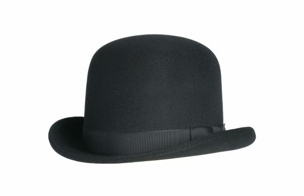 Tall Derby Bowler Hat in Black #NHT09-01
