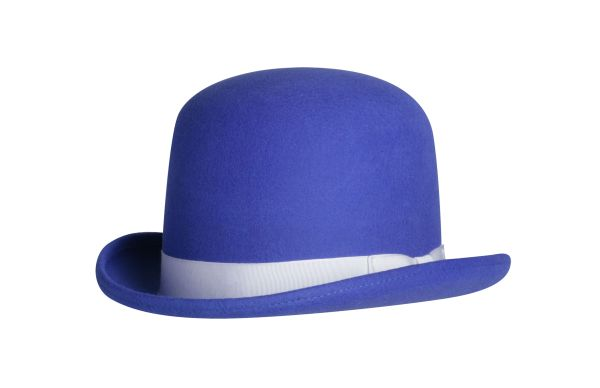 Tall Derby Bowler Hat in Royal Blue #NHT09-38