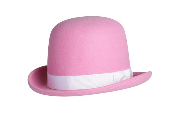 Tall Derby Bowler Hat in Pink #NHT09-53