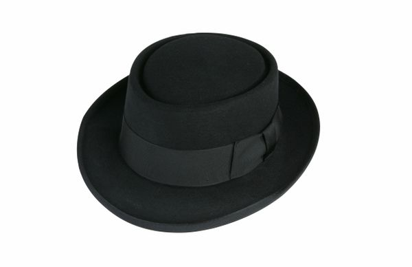 Deluxe Pork Pie Hat in Black #NHT27-01