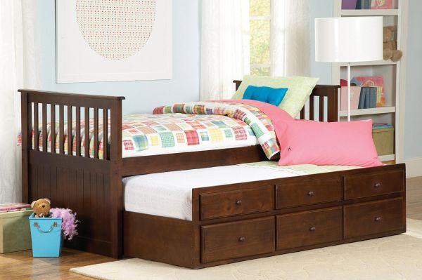 Twin Captain Bed With Storage Drawers Kswxe571pe Kid