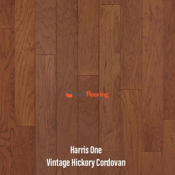 "Harris One Engineered HICKORY 3/8"" x 5"" @ $3.39 sq ft"