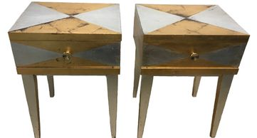 end tables, tables, gold/silver tables, mid-century modern tables, mid-century modern