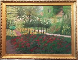 Alan R. Banks, monet giverny, alan r. banks, framed oil paintings, gilt framed artwork