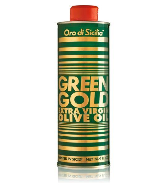 Oro di Sicilia | Green Gold Extra Virgin Olive Oil | 500mL (17 FL OZ) Harvest 2018 | B.B. 07.09.21