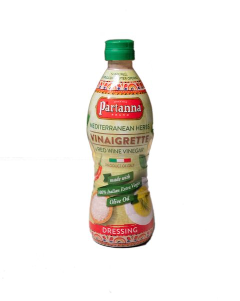 Partanna Vinaigrette | Mediterranean Herbs & Red wine Vinegar | 24 fl oz (710mL)