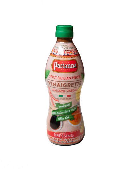 Partanna Vinaigrette | Spicy Sicilian Herbs & Balsamic Vinegar | 24 fl oz (710mL)