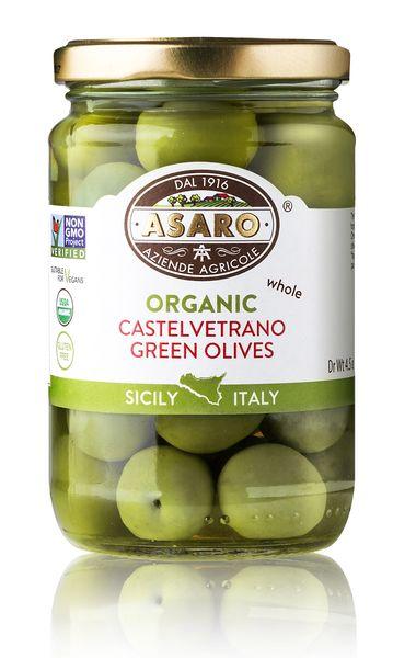 Organic, Castelvetrano Green Olives | Whole | 6 oz (190g)