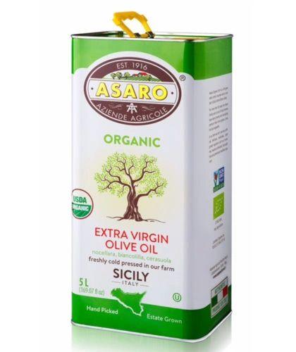 Asaro Farms | Organic Extra Virgin Olive Oil | 5L (169 FL OZ) Harvest 2018