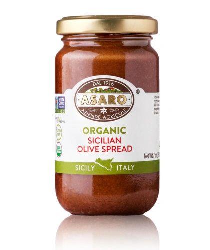 Asaro Farms | Organic, Castelvetrano Black Olives Spread | 7 oz (190g)