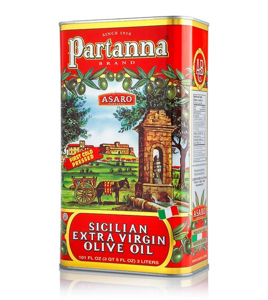 Partanna Extra Virgin Olive Oil | 3L - 101 FL OZ | Harvest 2019/20