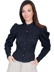 WahMaker Classic Blouse With Floral Pattern