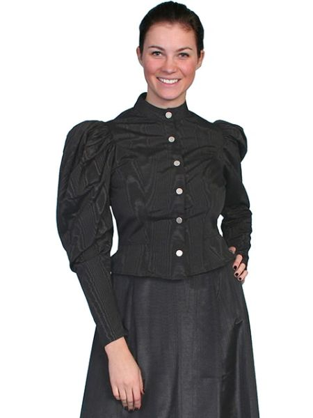 WahMaker Elegant Blouse With Puffed Sleeves