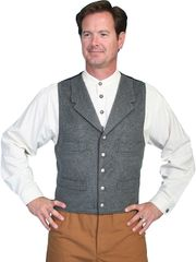 WahMaker Classic Wool Vest With Notched Lapel