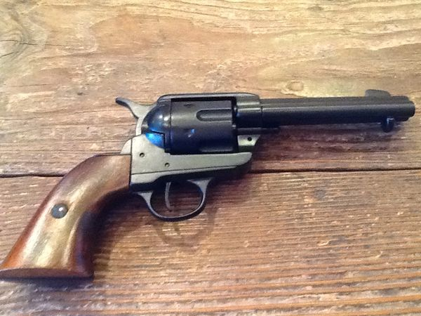 "1873 Single Action Army Replica With ""Faux"" Blued Finish"