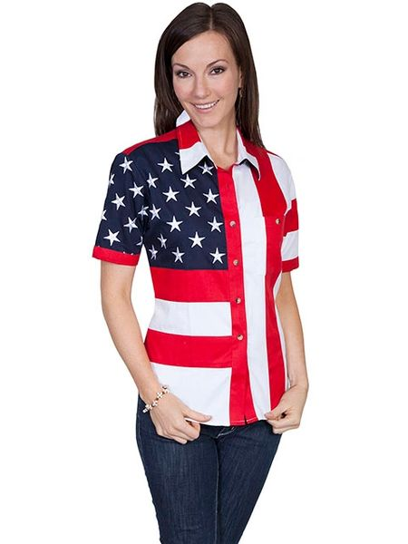 Patriot Stars & Stripes Casual Blouse