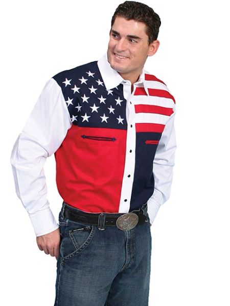 Patriot Stars & Stripes Long Sleeve Shirt