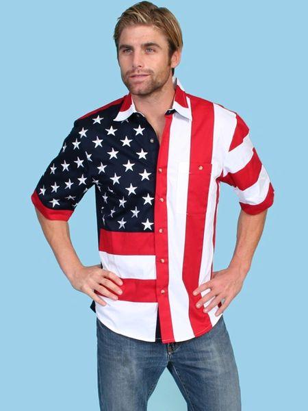 Patriot Stars & Stripes Half Sleeve Shirt