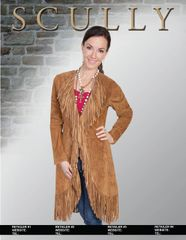 Scully Long Jacket with Fringe