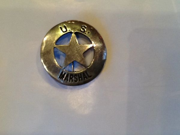 US Marshal Star Cut Out Badge - Hand Cast