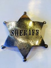 Sheriff 6 Point Star Badge - Hand Cast