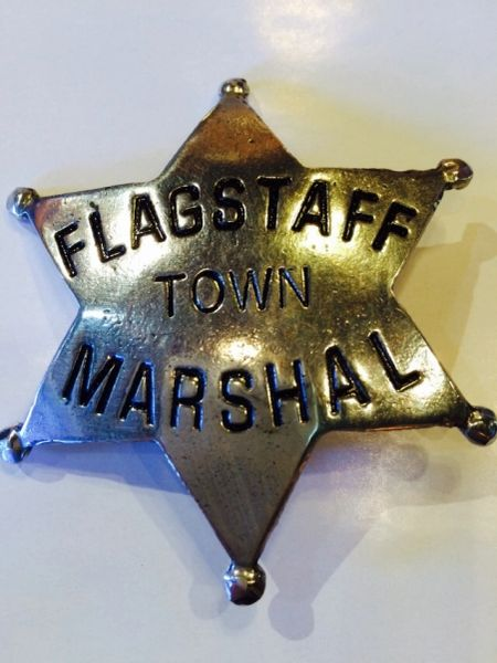 Flagstaff Town Marshal Badge - Hand Cast