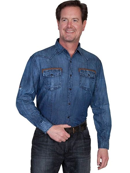 Denim Snap Flap Pocket Shirt