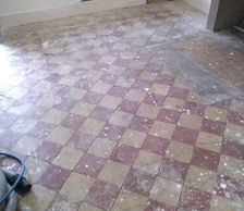 Quarry tile floor cleaning in Derbyshire