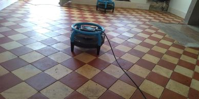 Quarry tile floor cleaning and restoration