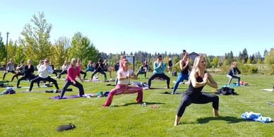Outdoor Yoga Class at Free Spirit