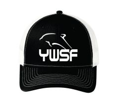 BLK/WHITE SNAP BACK TRUCKER CAP