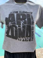 YWSF Latitude/Longitude Short Sleeve Tee