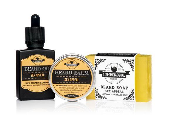 SEX APPEAL Set | Beard Oil + Beard Balm + Beard Soap