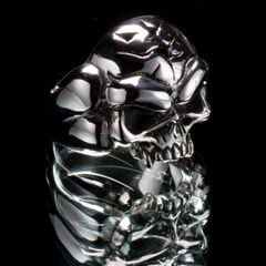 58. Mad Skull - Sterling Silver Ring