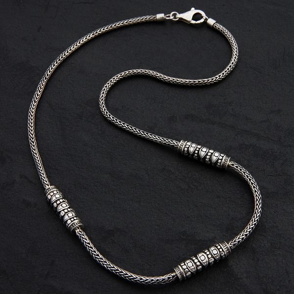 01. Geo-001 - Sterling Silver Necklace