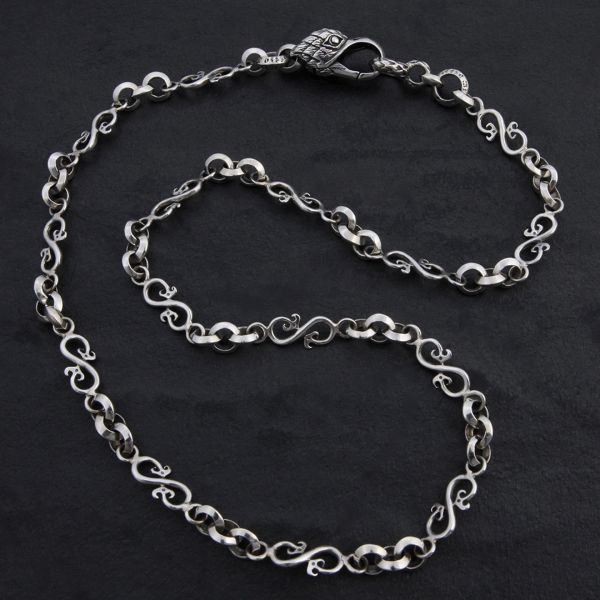 15. Geo-015 - Sterling Silver Necklace