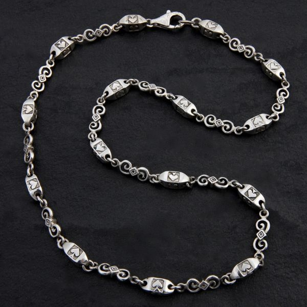 19. Ace of Spades - Sterling Silver Necklace