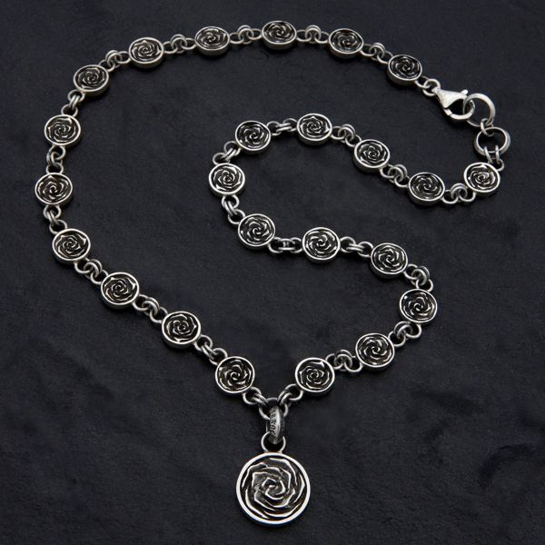 20. Rose - Sterling Silver Necklace
