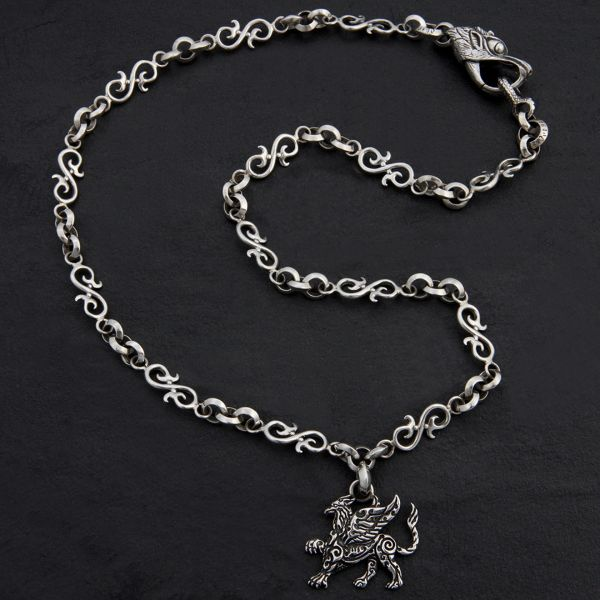 27B. Griffin - Sterling Silver Necklace