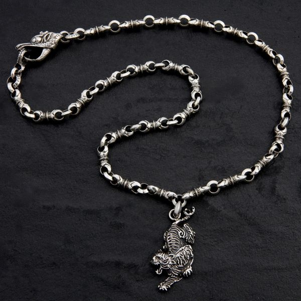 29. Tiger - Sterling Silver Necklace