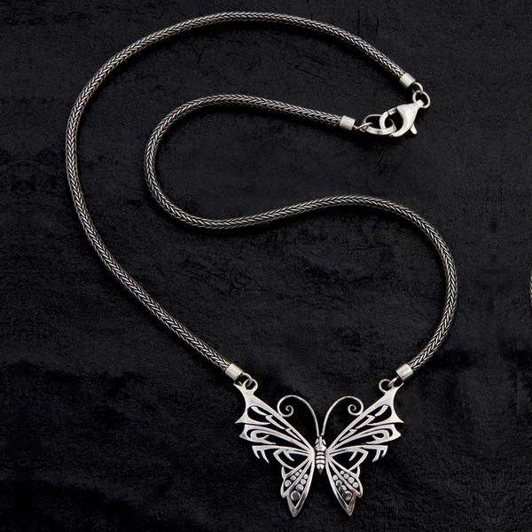 35. Butterfly - Sterling Silver Necklace