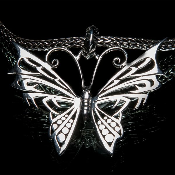 35. Butterfly - Sterling Silver Pendant