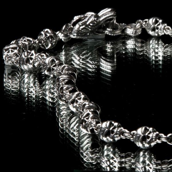 44. Skulls - Sterling Silver Necklace
