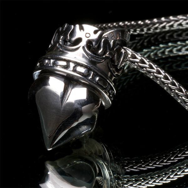 50. Heart and Crown - Sterling Silver Pendant