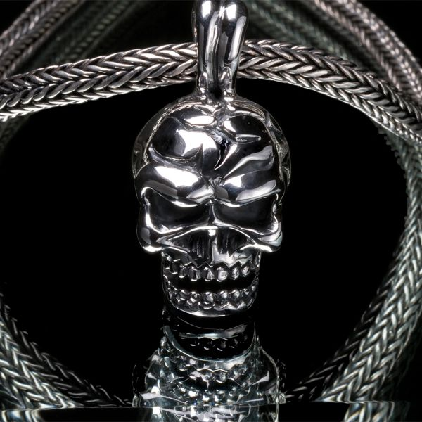 52. Mad Skull - Sterling Silver Pendant