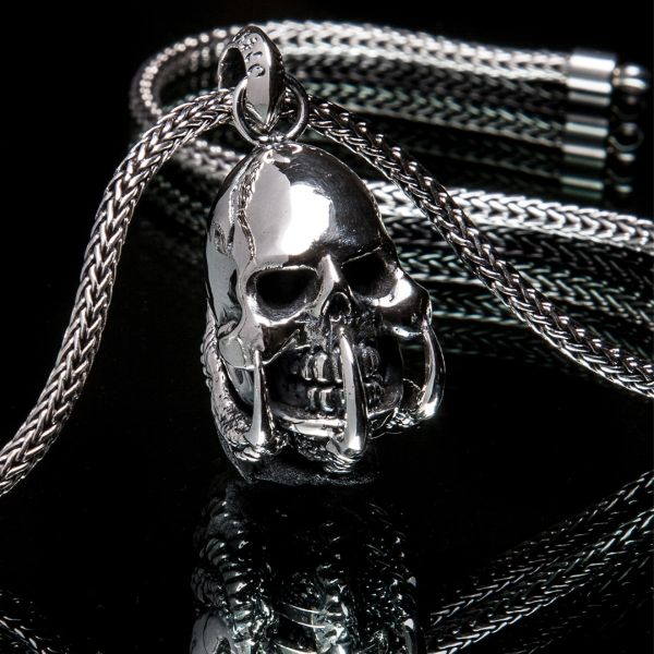 68. Skull and Claws - Sterling Silver Pendant