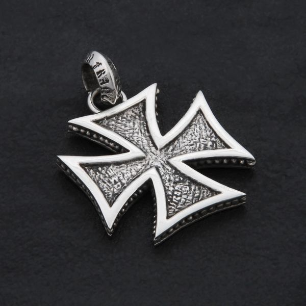 71. Maltese Cross - Sterling Silver Pendant