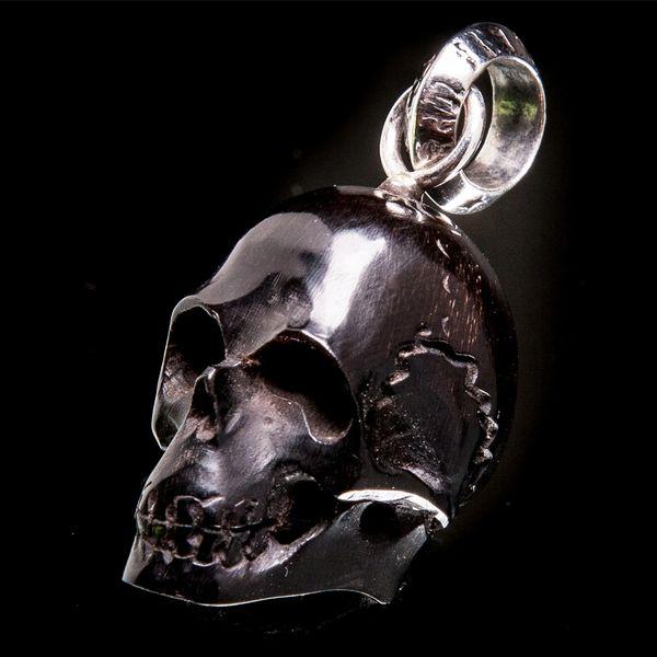 51. Skull - Sterling Silver & Water Buffalo Horn Pendant
