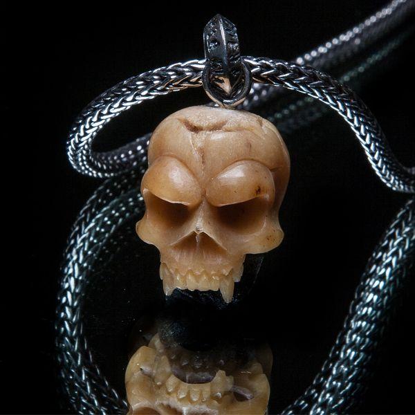 52. Mad Skull - Sterling Silver & Bone Pendant